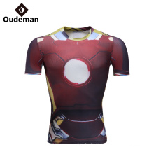 El precio competitivo de la aptitud del gimnasio de los hombres del precio de fábrica lleva la camiseta flaca cómoda para los hombres
