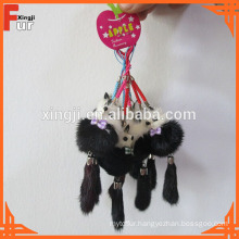 Small Fox Shaped / Different Colors / Mink Fur Keychain