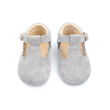 Soft Suede Leather T-Bar Dress Shoes Casual Shoes