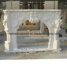 Мраморный камин из белого камня (SY-MF004)