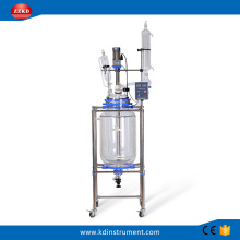 100L Jacketed Chemical Glass Polymerization Reactor