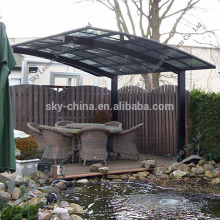 100% anti-UV polycarbonate roof used aluminum awnings for sale