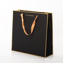 Papier d'estampage fait sur commande de luxe de papier d'aluminium d'or / sac de cadeau