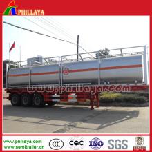 3 Achsen chemischer flüssiger Behälter-Anhänger