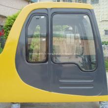Porte de cabine d'excavatrice PC100-6 avec cabine de conduite de l'essuie-glace en verre 20Y-54-00515 20Y-54-00514