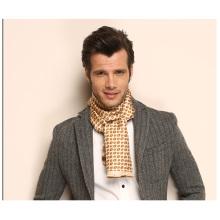 Motif en plaid Deux calques Hommes Foulard en soie