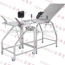 Table de travail hospitalière Table de livraison obstétrique en acier inoxydable