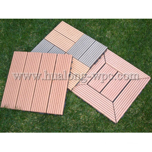 HDPE Flooring+Plastic Base WPC Interlocking Decking Tiles (HL-300*300)