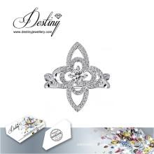 Судьба ювелирные изделия кристалл из роскоши Сваровски кольцо