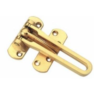 correntes de porta de cor dourada