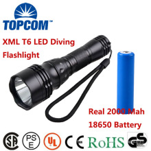 XM-L T6 U2 LED 1800Lm 5 Modes Waterproof Scuba Diving Flashlight Underwater Waterproof Submarine Light Lamp Flashlight Torch