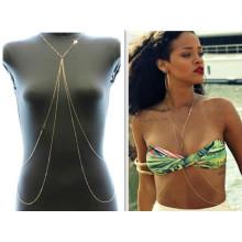 Vente chaude de chaînes de chaînes en or bikini sexy Chaînes de corps en gros