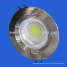 Níquel cob LED para baixo luz 8W 3inch