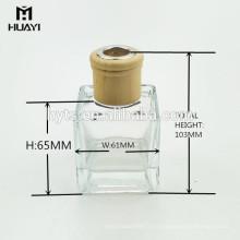 Botella de cristal decorativa al por mayor del difusor de lámina de perfume
