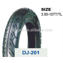 china deji motorcycle tires/tyre and tube price 3.00-10TT/TL