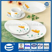 China fabricante de cena de hotel fija el servicio de 4, vajilla China cena establece el precio