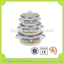 3 шт эмалированная посуда Кастрюля мини-керамические кастрюля