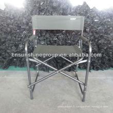 Chaise directeur pliante en métal ou en Aluminium