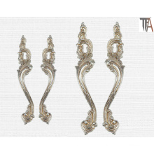 Zinc Material White with Gold Color Cabinet Handles