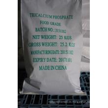 Grado alimenticio Fosfato tricálcico polvo fino anhidro 3-5um, calidad superior