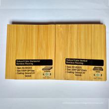 Естественный цвет гладкий вертикальный УФ-лак бамбуковый паркет