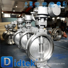 Didtek Triple Offset Stainless Steel Blow-out Proof Shaft Wafer Type Butterfly Valve
