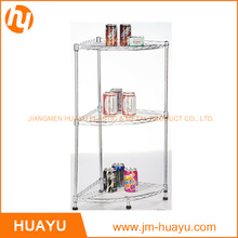 Homeware 3-Tier Wire Corner Shelf, Wire Rack, Display Stand