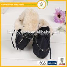 Оптовые ботинки мягкой неподдельной кожи хлопчатобумажной пряжи детские ботинки для alibaba на испанском языке