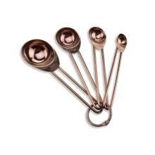 ensemble cuillère à mesurer en acier inoxydable or rose