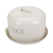Tin Cake Stand Box Cookie Tin Canister