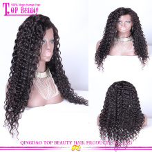 Wholesale Mongolian virgin human hair lace front wig deep wave glueless wigs