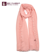 HEC China Online Selling Popular Polyester Long Lady Shawl Scarves