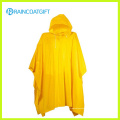 Rvc-181 Reusable Adult Yellow PVC Rain Poncho