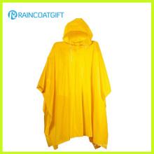 Rvc-181 Poncho de lluvia de PVC amarillo adulto reutilizable