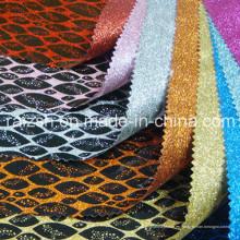 Flashing Joyería Embalaje Impresión PVC Fabric Glitter Especial Cuero