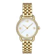 Reloj de pulsera clásico de acero inoxidable 316L, con pedrería para hombres y mujeres