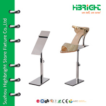 Divided adjustable women's shoe display stand
