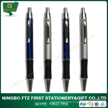 Slim Soft Grip Metal Pen With Logo