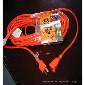 Trabajo pesado 110 voltios cable de extensión al aire libre