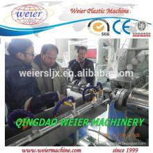 Double extruder machine for PVC fiber reinforced hose making