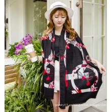 El más popular en la venta MOQ pequeño bufanda de manta al por mayor mantón