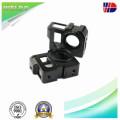 Aluminium 6061/6063 CNC bearbeitete Teil mit heller schwarzer Anodisierung