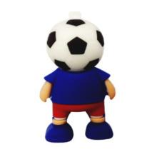 Forma do jogador de futebol do campeonato do mundo do esporte movimentação do flash de USB 4GB