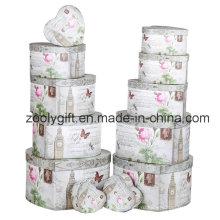 12 Набор подарочной коробки для подарочной бумаги с цветочным сердцем Jewellry Box