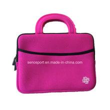 """Color rosa 10 """"cubierta de neopreno para portátiles con correa de la manija (SNLS14)"""