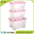 Large Transparent Plastic Storage Container with Lid