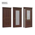 Design de porta de madeira único projeto mais recente com vidro