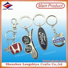Porte-clés de logo de voiture en métal personnalisé de vente directe d'usine