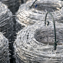 Military grade hot dipped galvanized price barbed wire single twist 5mm weight per meter barbed wire for fence