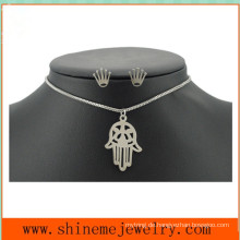 Mode Titan Stahl Palme Schmuck Set Edelstahl Crown Nail Einfache Hand Halskette (SSNL2647)